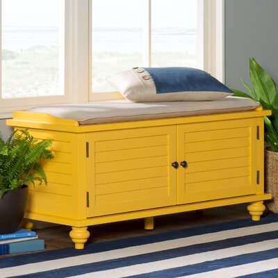 Indialantic Storage Bench Color: Yellow