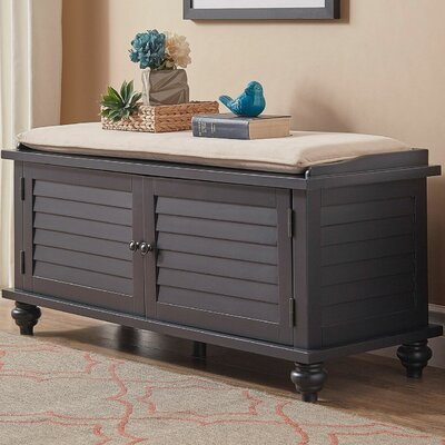 Indialantic Storage Bench Color: Vulcan Black