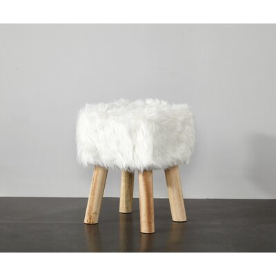Aldea Vanity Stool Color: White