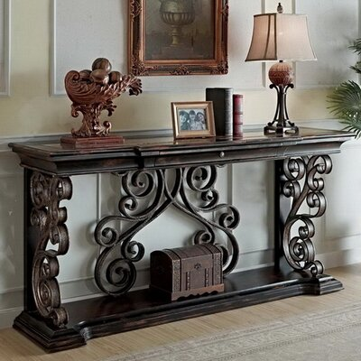 Sorrento Console Table Color: Dark wood