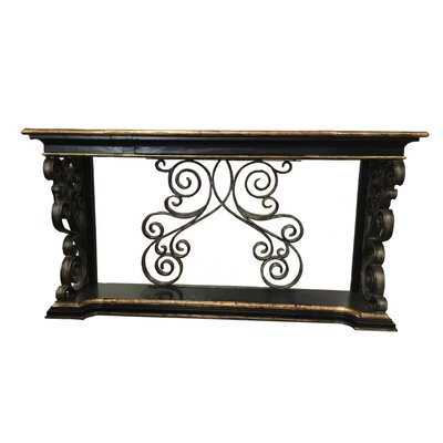 Sorrento Console Table Color: Gold Leaf