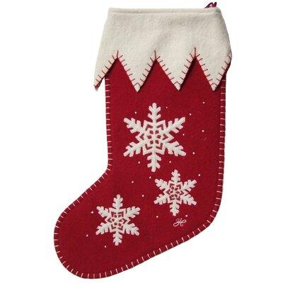 Jan Constantine Appliqué Snowflake Christmas Stocking