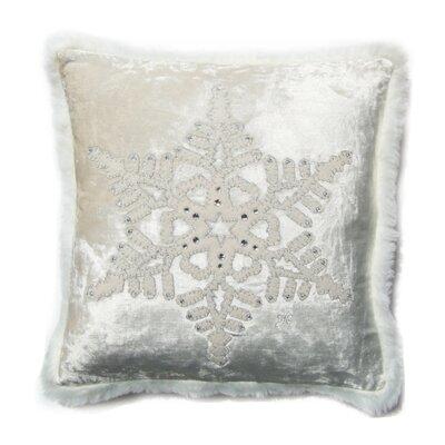 Jan Constantine Winter Fretwork Snowflake Velvet Scatter Cushion
