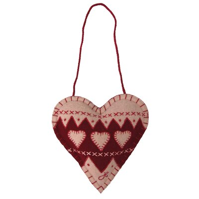 Jan Constantine Fair Isle Mini Spice Heart Hanging Figurine