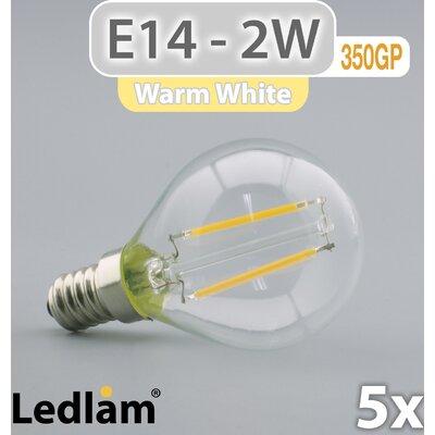 LEDlam 5-tlg. LED-Set E14 2W