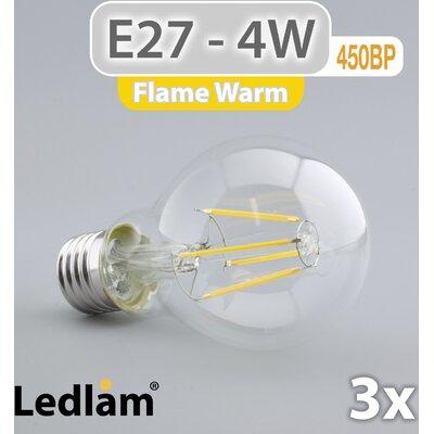LEDlam 3-tlg. LED-Set E27 4W