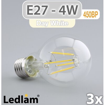 LEDlam 3-tlg. LED-Set E27 4W