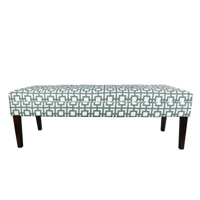 Kaya Gigi Upholstered Bench Upholstery Color: Blue/Gray