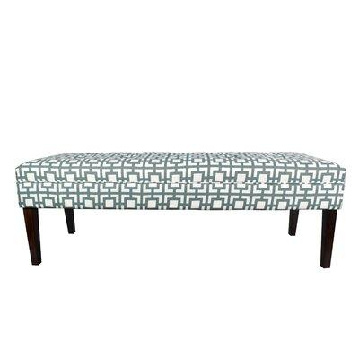 Kaya Gigi Upholstered Bench Upholstery Color: Blue/Gray