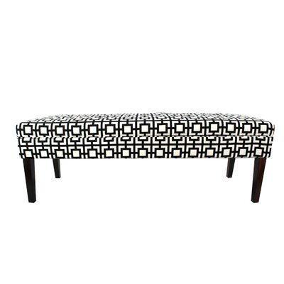 Kaya Gigi Upholstered Bench Upholstery Color: Black/White