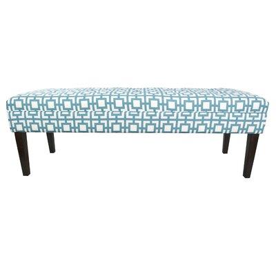 Kaya Gigi Upholstered Bench Upholstery Color: Blue/White