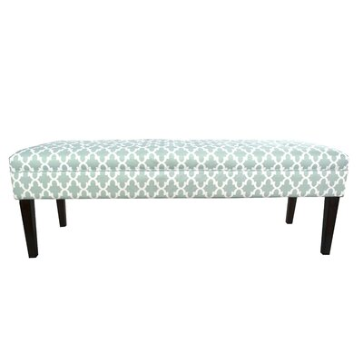 Kaya Fulton Upholstered Bench Upholstery Color: Aqua/White