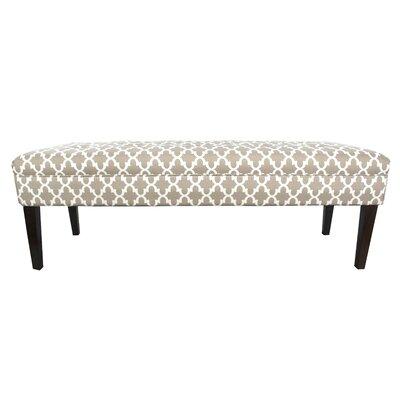 Kaya Fulton Upholstered Bench Upholstery Color: Beige/Tan