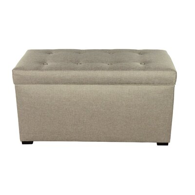 Woodside 8 Buttons Tufted Fabric Storage Bench Color: Khaki