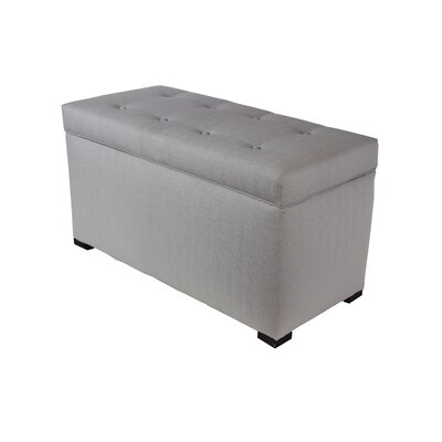 Woodside 8 Buttons Tufted Fabric Storage Bench Color: Silver