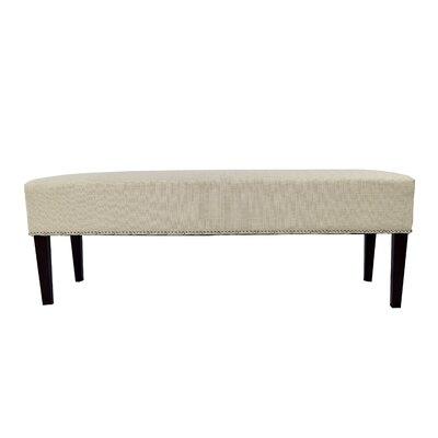 Roxanne Upholstered Bench Color: Beige