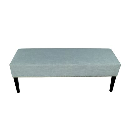 Roxanne Upholstered Bench Color: Sea Mist Green