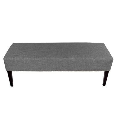 Roxanne Upholstered Bench Color: Dark Gray
