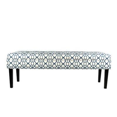 Seguis Upholstered Bench Color: Blue