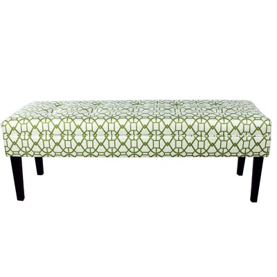 Seguis Upholstered Bench Color: Green