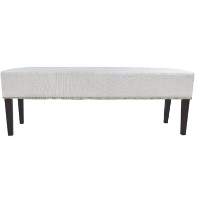 Woodside Fabric Storage Bench Color: Silver