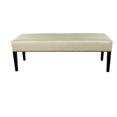 Tillie Upholstered Bench Color: Cream