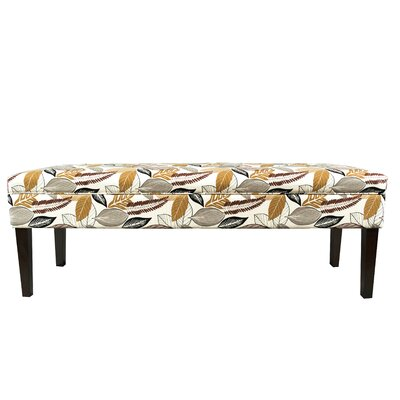 Kaya Button Tufted Bench Color: Driftwood