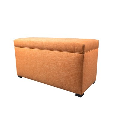 Key Largo Wood Storage Bench Color: TerraCotta