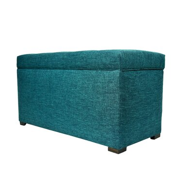 Key Largo Wood Storage Bench Color: Zenith Teal