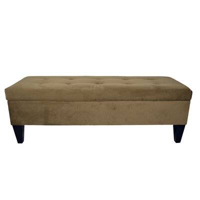 Ennis Wood Storage Bench Color: Coffee