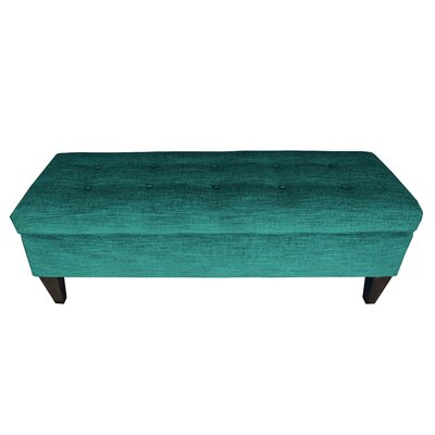 Lucky Wood Storage Bench Color: Turquouise