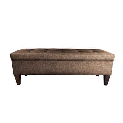 Sand Upholstered Storage Bench Color: Brown