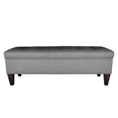 Sand Upholstered Storage Bench Color: Grey