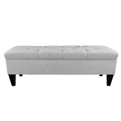 Hobson Upholstered Storage Bench Color: Silver