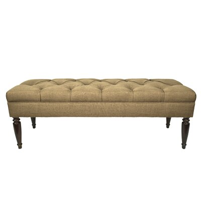 Allure Upholstered Bench Upholstery Color: Pebble