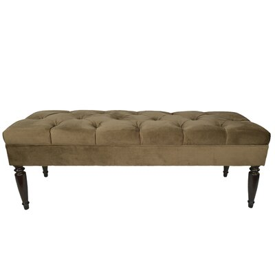 Ennis Upholstered Bench Upholstery Color: Coffee