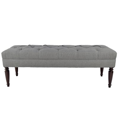 Upholstered Bench Upholstery Color: Gray