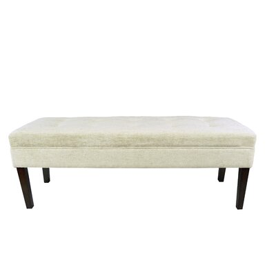 Kaya Atlas Upholstered Bench Upholstery Color: Bone