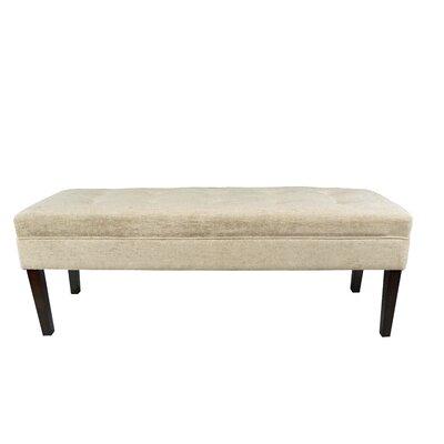 Kaya Atlas Upholstered Bench Upholstery Color: Sterling