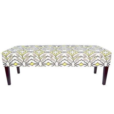 Kaya Eden Upholstered Bench Upholstery Color: Lemon