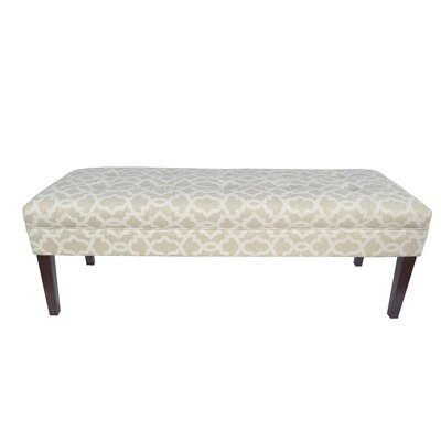 Kaya Sheffield Upholstered Bench Upholstery Color: Cloud