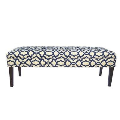Kaya Sheffield Upholstered Bench Upholstery Color: Indigo
