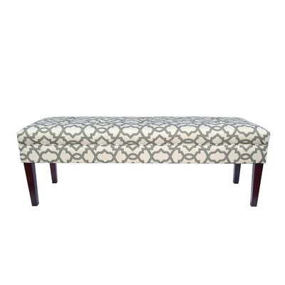 Kaya Sheffield Upholstered Bench Upholstery Color: Gray