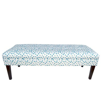 Kaya Togo Upholstered Bench Upholstery Color: Blue
