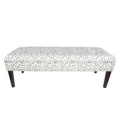 Kaya Togo Upholstered Bench Upholstery Color: Ecru