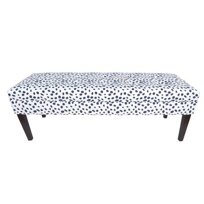 Kaya Togo Upholstered Bench Upholstery Color: Navy
