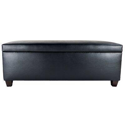 Sole Secret Retro Shoe Storage Bench Lid Upholstery Color: Black, Base Upholstery Color: Black