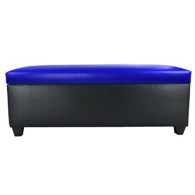 Sole Secret Retro Shoe Storage Bench Lid Upholstery Color: Blue, Base Upholstery Color: Black