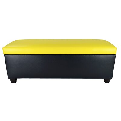 Sole Secret Retro Shoe Storage Bench Lid Upholstery Color: Yellow, Base Upholstery Color: Black