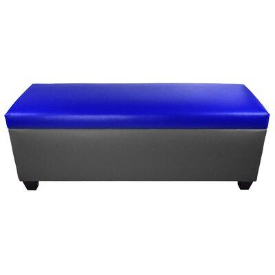 Sole Secret Retro Shoe Storage Bench Lid Upholstery Color: Blue, Base Upholstery Color: Dark Gray